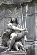 statue in rio de janeiro. - stock photo