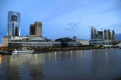 puerto madero in buenos aires.. - stock photo