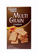 Multi grain crackers Stock Photos