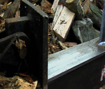 Log splitter blade only Stock Footage