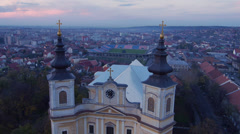 Baroque Cathedral right Stock Footage