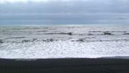 Stock Video Footage of Volcanic black sand beach in North Atlantic (color corrected)