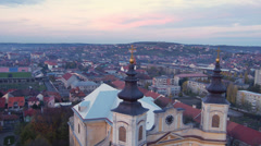 Baroque Basilica Front Slide Stock Footage