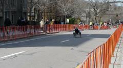 Wheelchair Competitor Boston Marathon 2014 Stock Footage