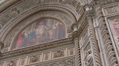 Florence, Basilica of Saint Mary of Flower Stock Footage