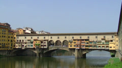 Florence, view of Ponte Vecchio Stock Footage