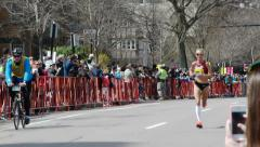 Shalane Flanagan Runner Boston Marathon Stock Footage