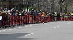 Wilson Chebet Boston Marathon Stock Footage