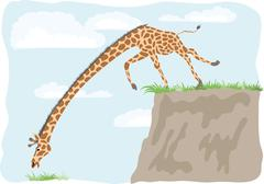 Grass is always greener over there Stock Illustration