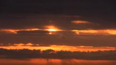 Sea sunset timelapse Stock Footage