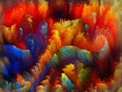 Digital Bloom Backdrop - stock illustration