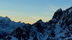 Timelapse sunrise in the mountains Pharilapche peak, Himalayas, Nepal.  Stock Footage