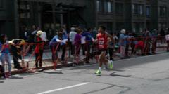 Man with Afro Boston Marathon 2014 Stock Footage