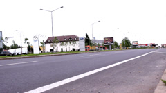 Traffic Road in Vojvodina,Serbia Stock Footage