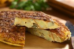 spanish tortilla omelette - stock photo