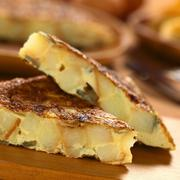 Spanish tortilla omelette slices Stock Photos