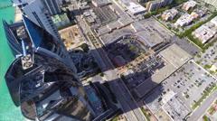 Aerial video Jade Beach condos flyover Stock Footage