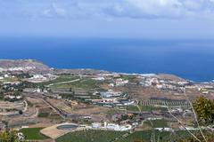 Spain, Canary Islands, Gran Canaria, Arucas and fields - stock photo