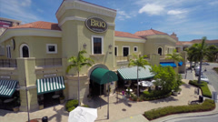 Aerial video of the Brio Grill Restaurant Gulfstream Stock Footage