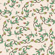 Flower bud leaves seamless Stock Illustration
