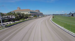 Aerial video of the Gulfstream race track Stock Footage