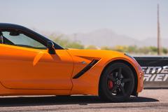 2014 Orange Corvette Stock Photos