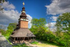 Orthodox church of st.michael on petrin hill - hdr image Stock Photos