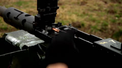 Mounted weapons training in Grafenwoehr, Germany Stock Footage
