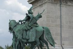 Tas the Horseman - Heroes Square - Budapest - stock photo