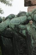 Memorial to Hungarian Volunteers Stock Photos