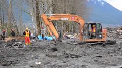 Oso Washington Mudslide Stock Footage