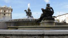 Piazza della Repubblica Fountain Detail 2 Stock Footage