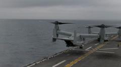 Flight operations on the USS Bonhomme Richard Stock Footage