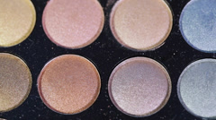 Eyeshadow Palette Stock Footage
