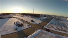 Aerial views of Coast Guard Training Center Cape May Stock Footage