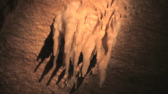 Crystal Cave stalactites forming in Yosemite National Park Stock Footage