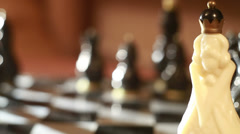 Chess black queen-move checkmate Stock Footage