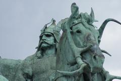 Huba - Heroes Square - Budapest - stock photo