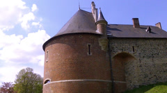 Gaasbeek Castle. The fortified castle was erected around 1240. Stock Footage