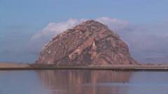 Morro Rock at Morro Bay California Stock Footage