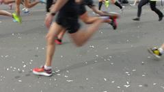 Runners Legs, Kiev City Marathon 2014 HD Stock Footage