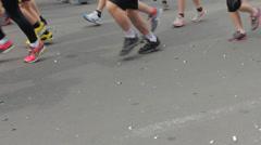Runners Legs, People Jogging, Sport and Exercising, Kiev City Marathon 2014 HD - stock footage