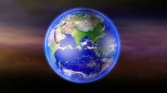4K Earth Zoom to Russia with Matte Stock Footage