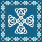 celtic cross ornament,symbolizes eternity,vector illustration - stock illustration