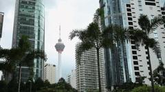 Timelapse. Kuala Lumpur. Malaysia. Menara tower Stock Footage