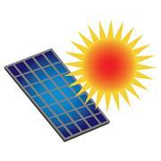 Sun Power Stock Illustration