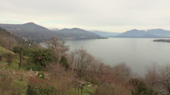 Panoramic view of Lake Maggiore Stock Footage