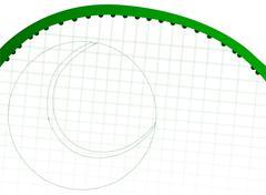 Stock Illustration of tennis racket