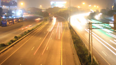 Highway traffic driving time lapse - stock footage