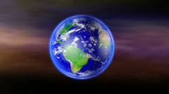 Earth Zoom to South America with Matte Stock Footage